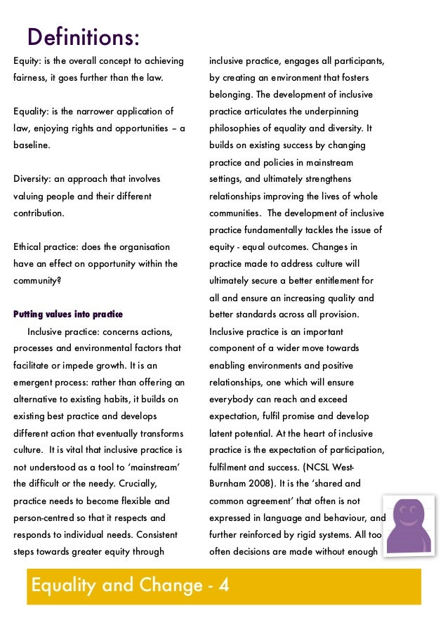 Diversity Meaning Workplace >> New Equality And Diversity handout