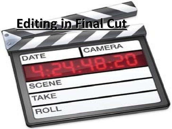Editing in Final Cut