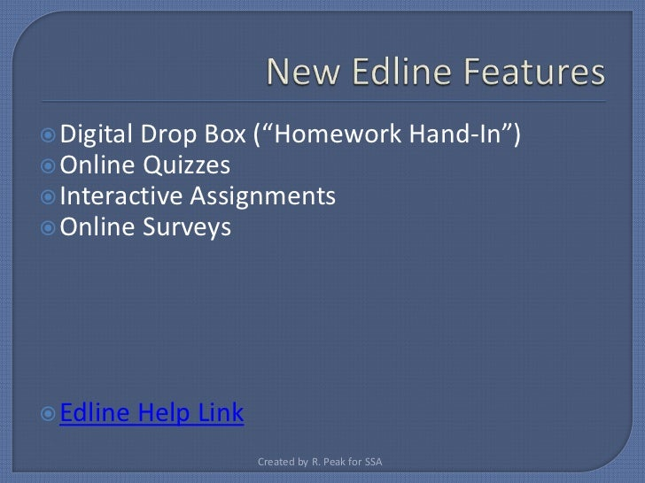 homework hand in edline