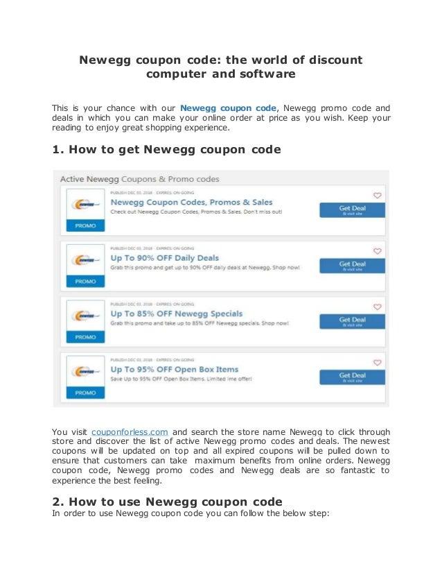 Newegg Coupon Code