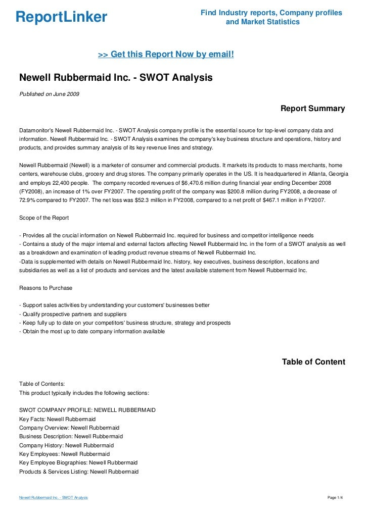newell business enterprise condition study analysis