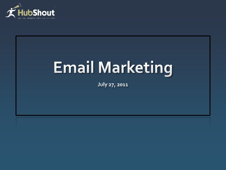 Why email?Nurture new and existing contacts      Lowest cost channel      Consolidated reports   Private-labeled dashb...