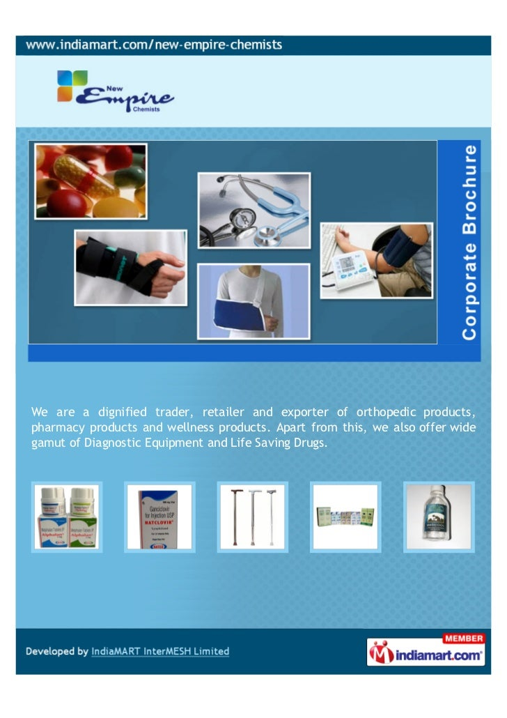 We are a dignified trader, retailer and exporter of orthopedic products,pharmacy products and wellness products. Apart fro...