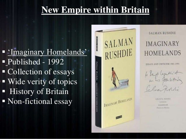 salman rushdie critical essays volume 1 Buy salman rushdie: critical essays, vol 2 by mohit k ray & rama kundu (isbn: 9788126906314) from amazon's book store everyday low prices and free delivery on eligible orders.