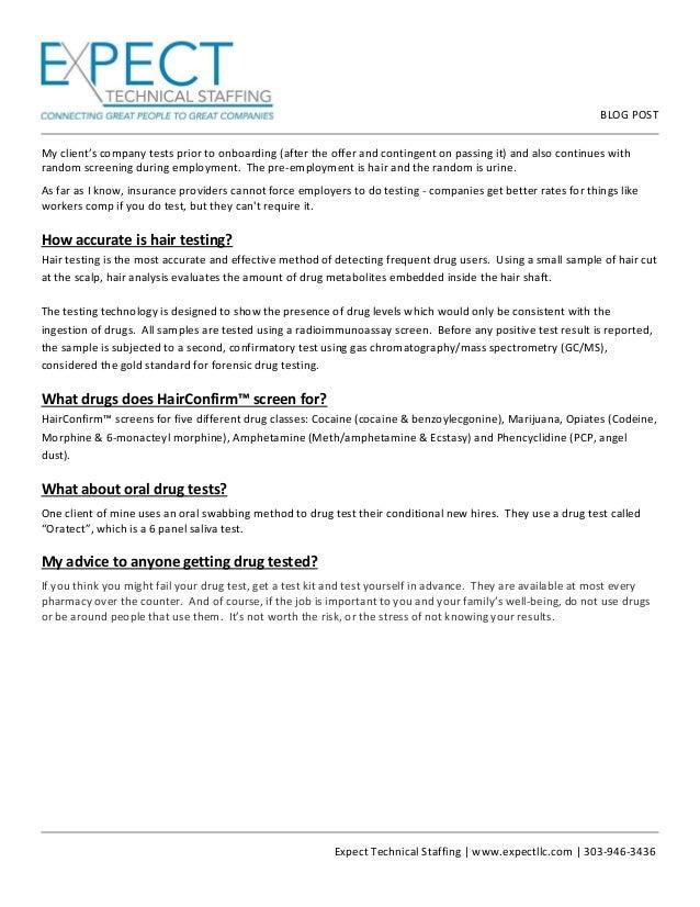 Hair Testing FAQs