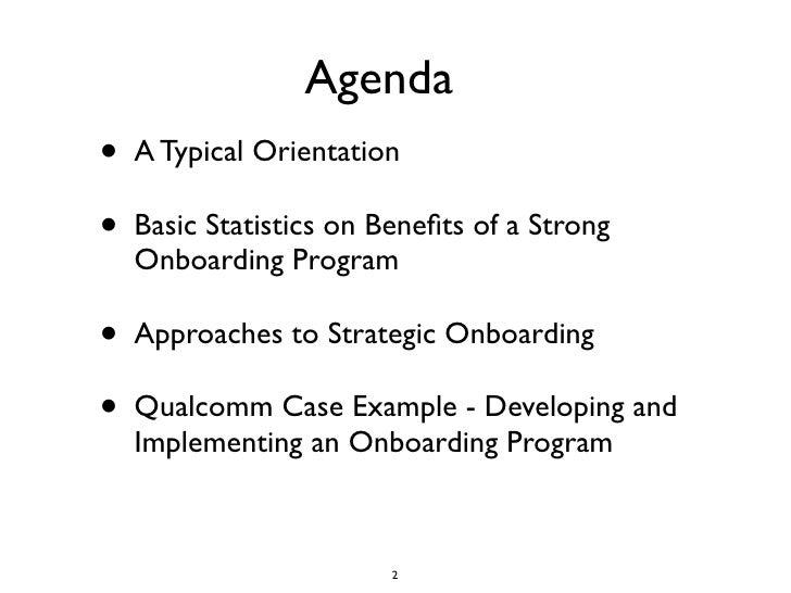 orientation agenda template