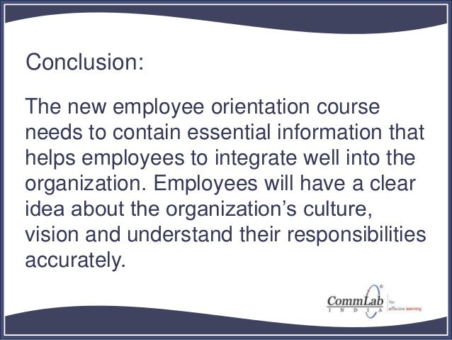 the importance of a well structured induction program in an organization Importance of proper organization structure for an organization organisation involves establishing an appropriate structure for the goal-seeking activities the structure of an organisation is generally shown on an organisation chart or a job-task pyramid it shows the authority and responsibility.