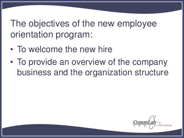 New Employee Orientation Training