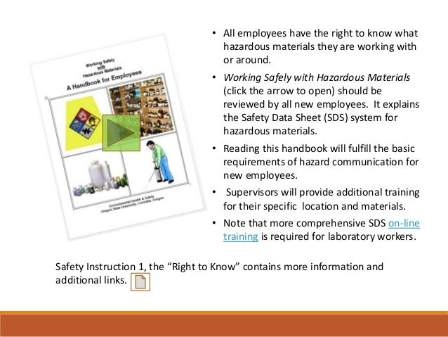 New Employee Safety Orientation by Oregon State University