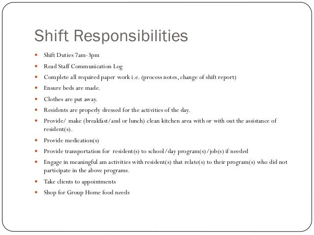 shift leader responsibilities