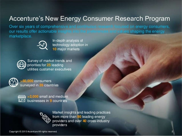 2 Accenture's New Energy Consumer Research Program Over six years of comprehensive and continuous research focused on ener...