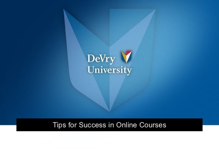 Tips for Success in Online Courses