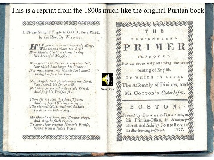 This is a reprint from the 1800s much like the original Puritan book.