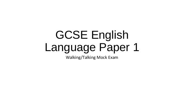 Mock gcse english papers online