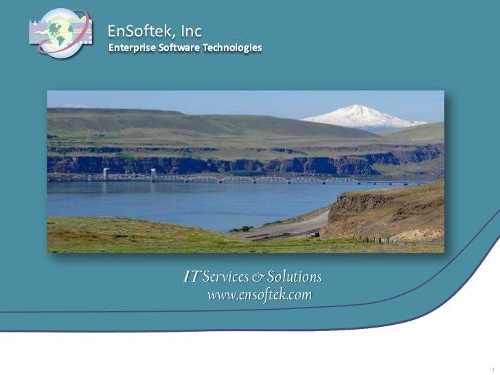 New En Softek It Capabilities Brochure   March 2011