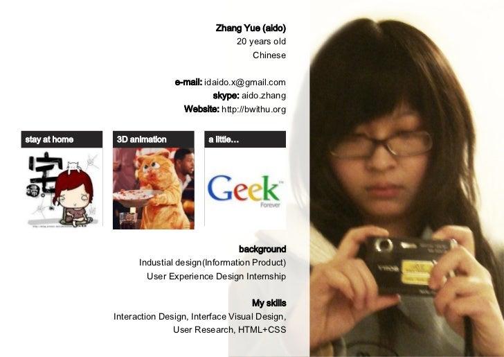 Zhang Yue (aido)                                             20 years old                                                 ...