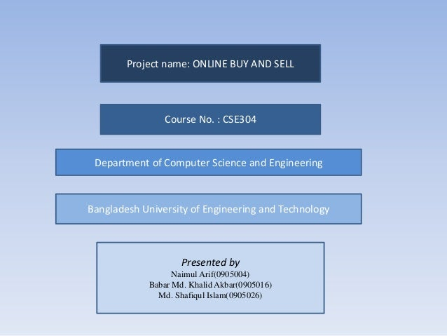 Entity relationship diagram for online buy and sale project project name online buy and sell course no cse304 department of computer science ccuart Choice Image