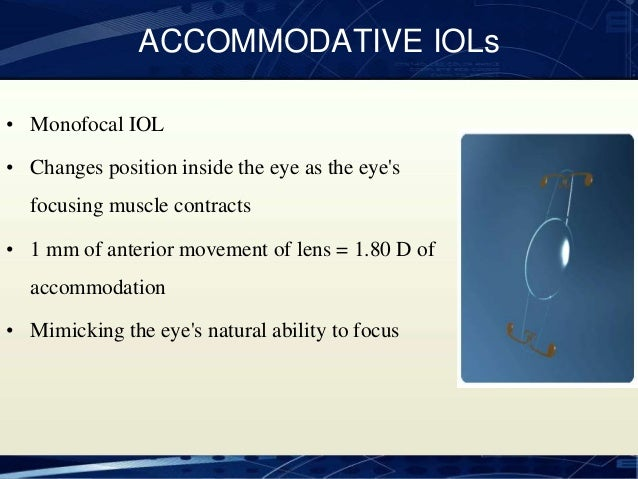 Accommodating iol ppt slides