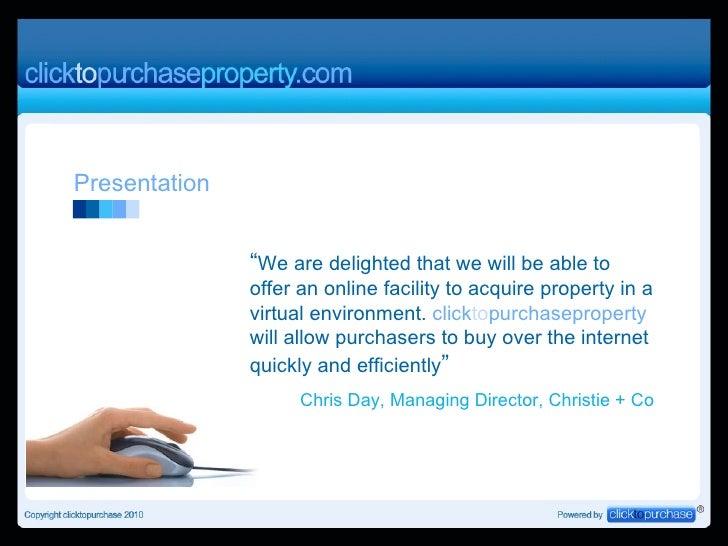 Presentation to Agents