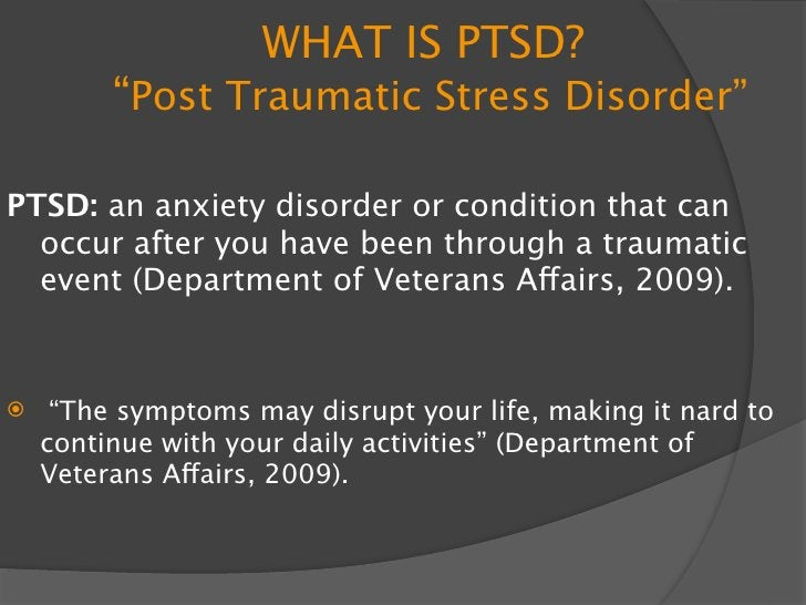 """Causes Of PTSD    Caused by a traumatizing event      Triggers: """"stressors"""" that can come from anywhere that usually rem..."""
