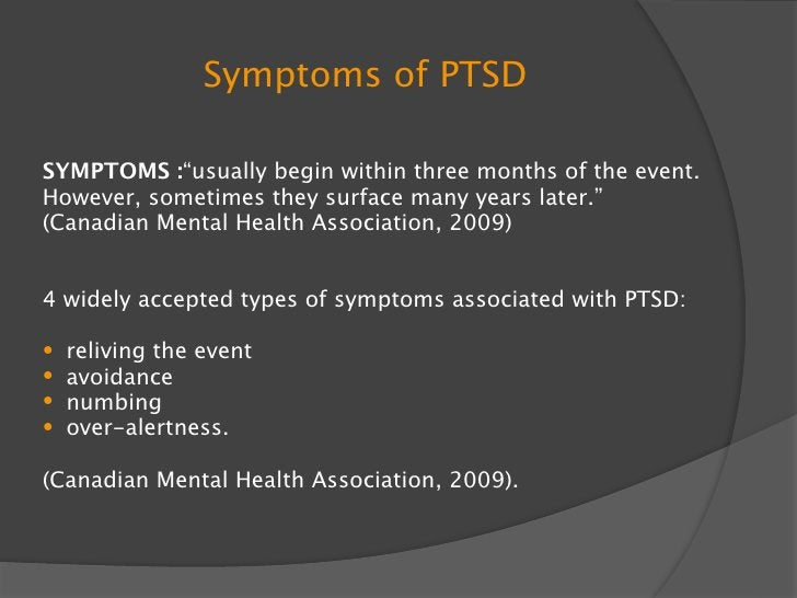 RELATED ILLNESSES TO PTSD/TREATMENT RELATED ILLNESSES  Alcohol or drug dependance  Depression  Dizziness  Chest pain ...