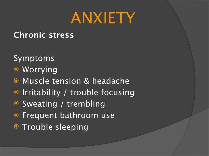 ANXIETY Causes    Genetics    Brain chemistry    Trauma Treatment    Psychiatrist / psychologist – meds + cognitive   ...