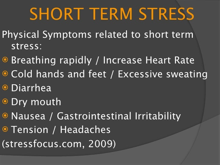 LONG TERM STRESS -Prolonged exposure to  Adrenaline  -Negative health outcomes  -Severe stress can lead to many  illnesses...
