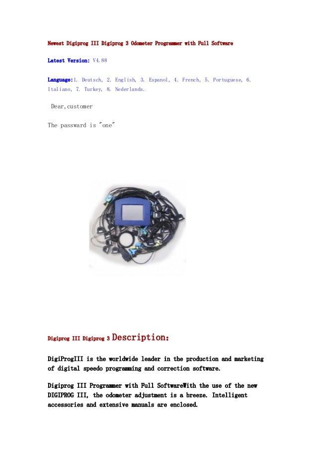 Newest Digiprog III Digiprog 3 Odometer Programmer with Full Software  Latest Version: V4.88 Language:1. Deutsch, 2. Engli...