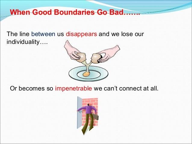 Good boundaries
