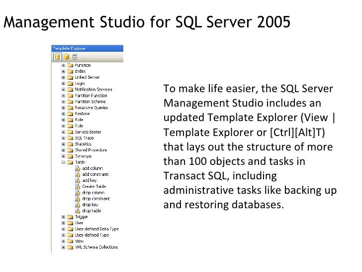an introduction to the sql server 2005 Bitmasking and bitwise operations are low level programming techniques used for turning bits off and on - the manipulation of bits provides a way to make representations in a computer the goal of bitmasking in sql server 2005 is to combine two or more attributes, normally stored into a single column in a.