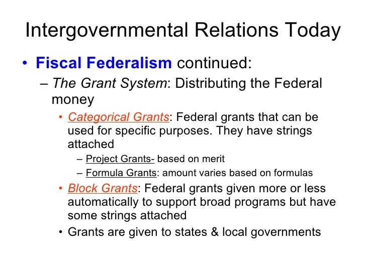 New Federalism 2 Ppt