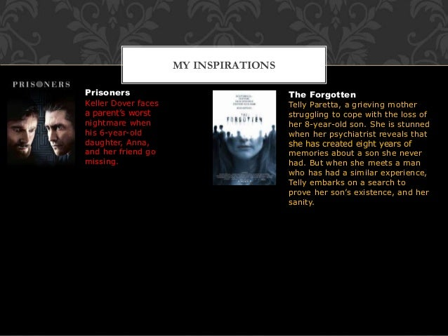 MY INSPIRATIONS Prisoners Keller Dover faces a parent's worst nightmare when his 6-year-old daughter, Anna, and her friend...