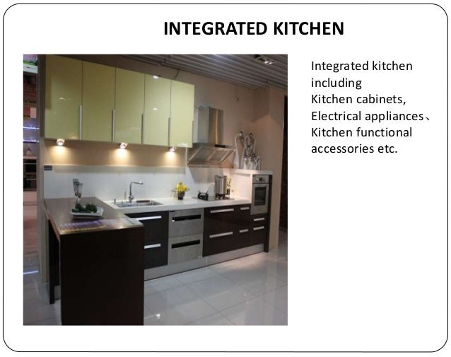 INTEGRATED KITCHEN; 13.