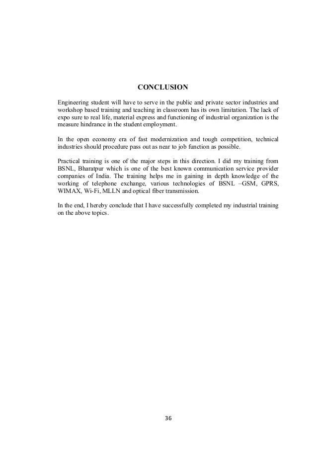 engineering report conclusion