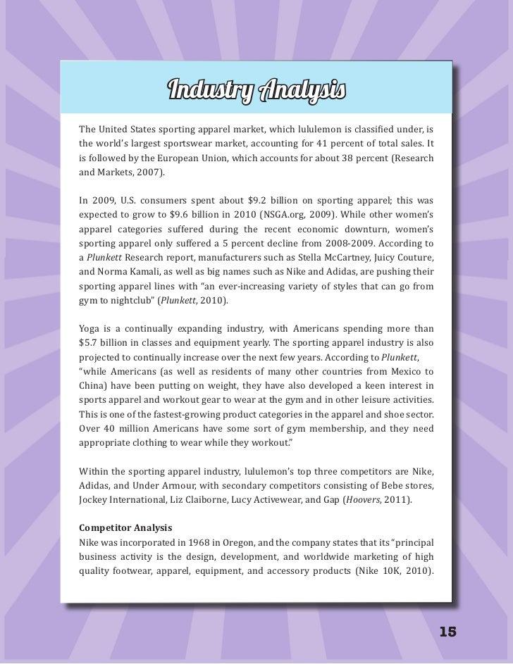 vrio analysis apparel manufacturing