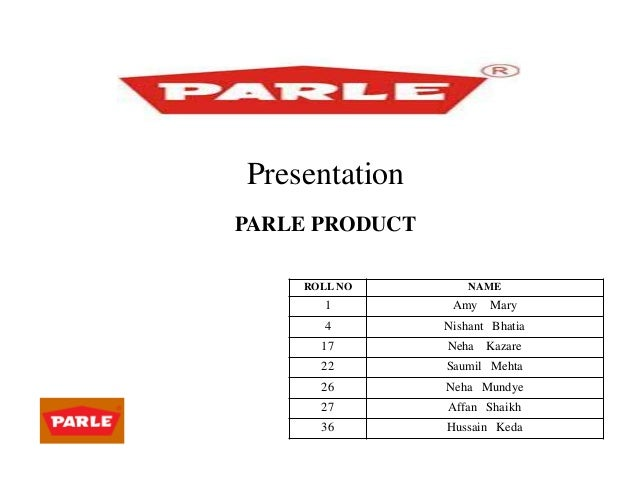 parle products history Brand overview brand evolution timeline brand elements positioning target market packaging pricing distribution channels promotion story board of an ad from the campaign acknowledgement conclusion reference introduction: parle products has been india's largest manufacturer of biscuits and confectionery for.