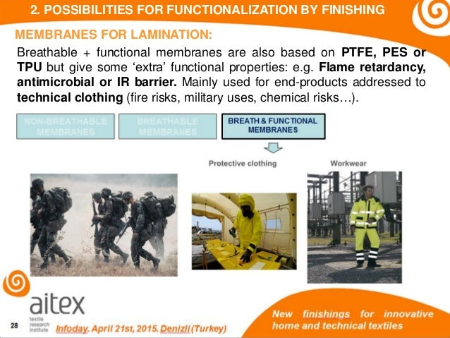 New Finishings For Innovative Technical Textiles