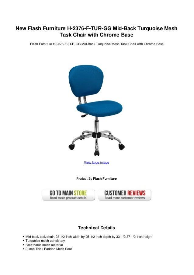 new flash furniture h 2376 f tur gg mid back turquoise mesh task chai
