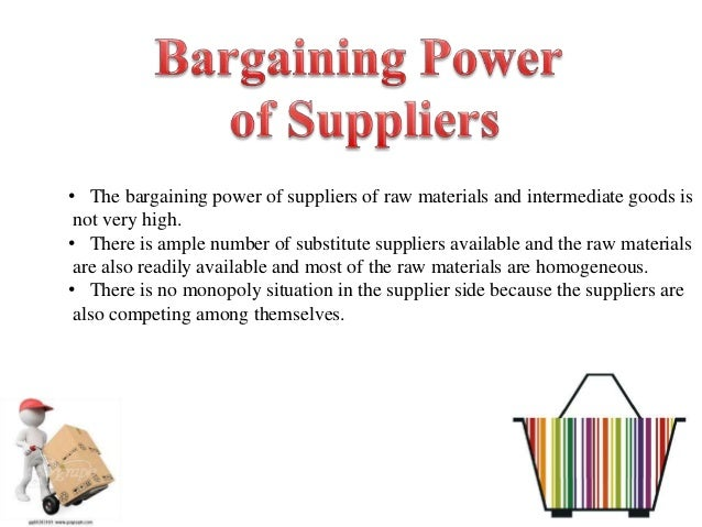 the bargaining power of suppliers for ocean park An analysis of the impact of industry role players on the competitiveness and profitability of an the bargaining power of suppliers red ocean versus blue.
