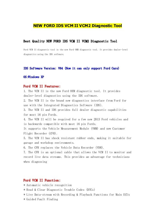 New ford ids vcm ii vcm2 diagnostic tool