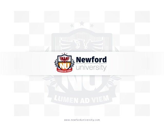 Newford University Brochure