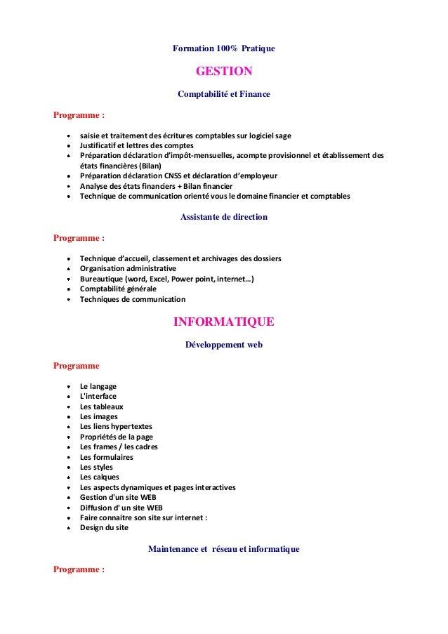 Formation 100% Pratique GESTION Comptabilité et Finance Programme : saisie et traitement des écritures comptables sur logi...