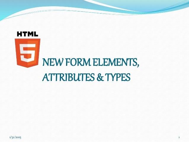 HTML Form Input Types