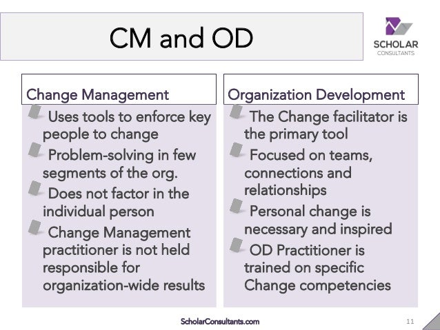 od and change Change management: organisation development understanding the differences between change management and organisational development can make all the difference.