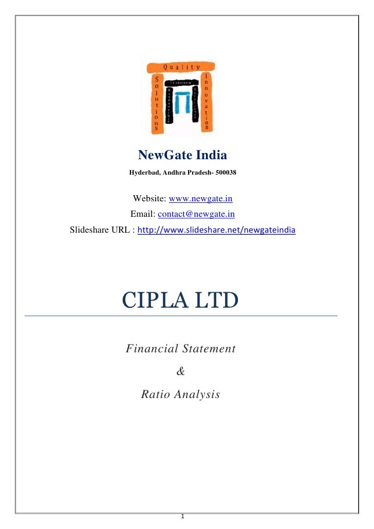 financial statement analysis of cipla