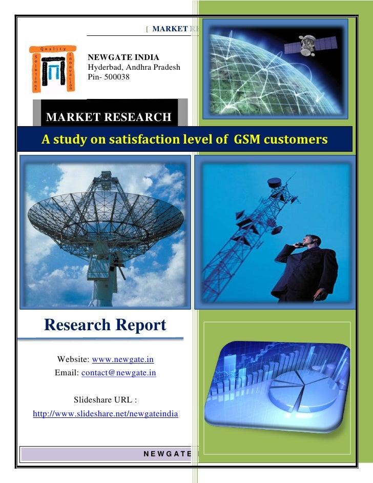 [ MARKET RESEARCH REPORT] JAN 2010 - 2012              NEWGATE INDIA              Hyderbad, Andhra Pradesh              Pi...
