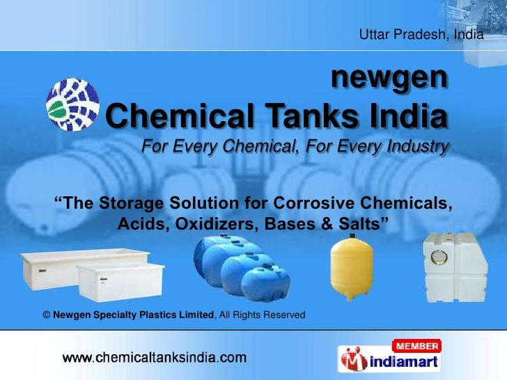 "newgenChemical Tanks IndiaFor Every Chemical, For Every Industry<br />""The Storage Solution for Corrosive Chemicals, Acids..."