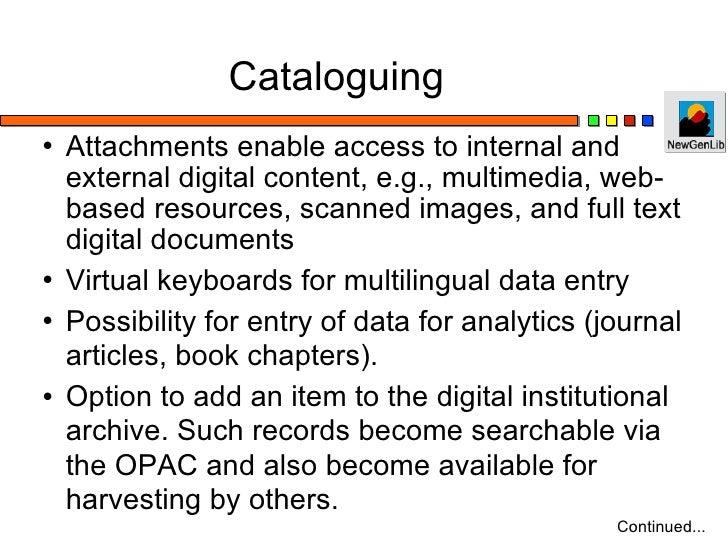 Open Source Library Automation Software - NewGenLib