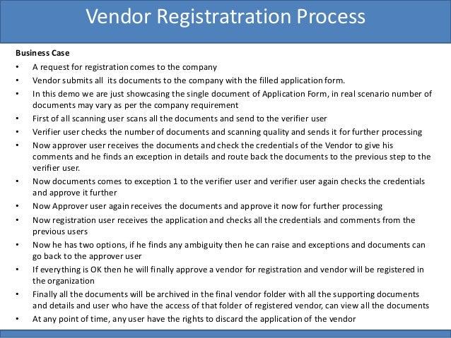 Newgen Vendor Registration Solution on Cloud – Vendor Registration Form