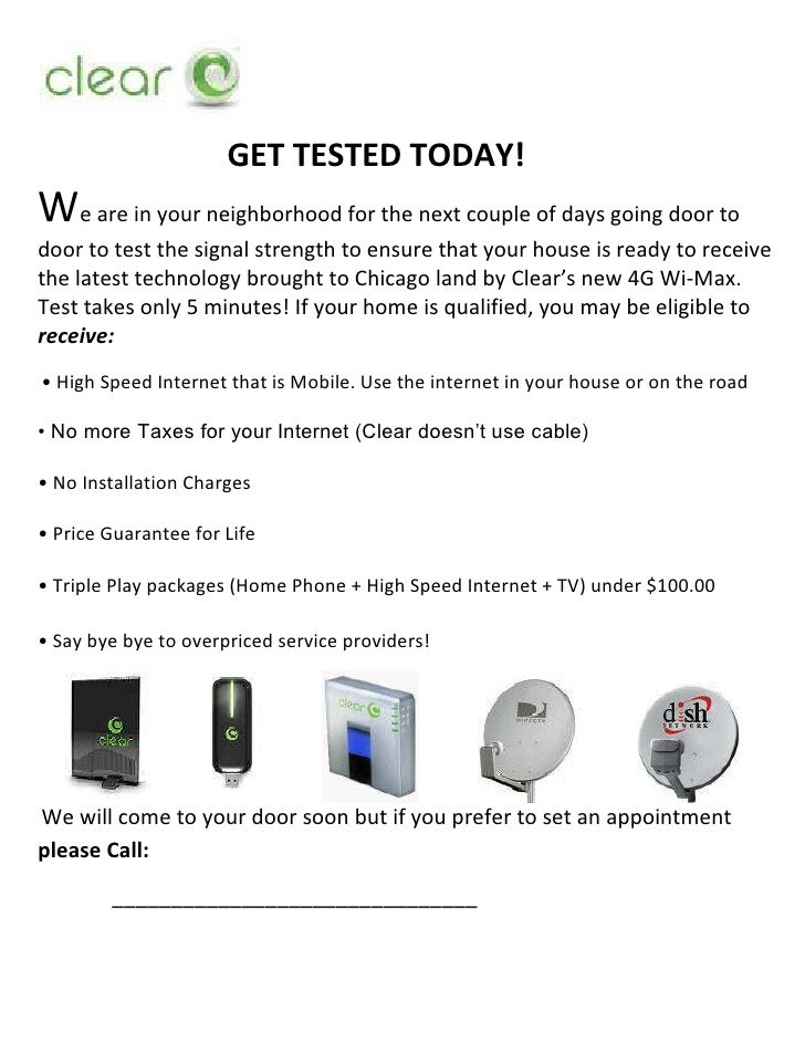 <br />GET TESTED TODAY!<br />We are in your neighborhood for the next couple of days going door to door to test the signa...